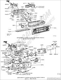 ford truck technical drawings and schematics section i instrument cluster and related parts typical 1967 1972 f100 f350 81 85