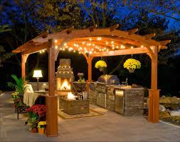 pergola lighting ideas design. Kitchen Impressive Pergola Lighting Modern Patio Design Black Wicker Outdoor Chair Gas Bbq Grill Natural Ideas I