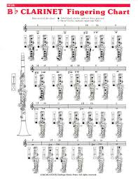 Sheet Music Elementary Fingering Chart Clarinet Clarinet