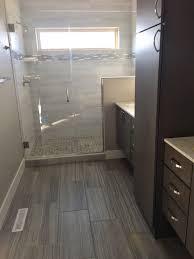 Dark Gray Floor Tile Bathroom