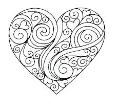 Heart Coloring Pages Free Printable Heart Coloring Pages For Kids