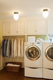 Sweet and simple laundry room. I do not think you have enough room for this