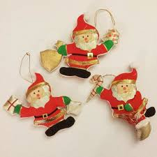 Chinese Christmas Ornaments or Silk Asian Christmas Ornaments, Set of 3 ,  Great Condition, perfect for adding a vintage or retro feel to your  Christmas tree ...