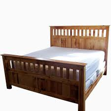 a handmade vintage reclaimed wood mission style bed frame made for remodel 1