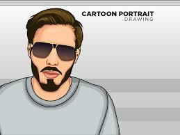 cartoon portrait avatar vector art drawing vector portrait painting ilrations hand drawn flat design