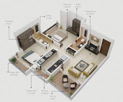 Apartment Galley Kitchen 50 Two 2 Bedroom Apartment House Plans Architecture Design