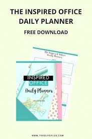 office planner free. FREE DOWNLOAD Daily Office Planner To Help Your Organise Day And Be Super Productive! Free E