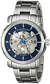 5 great skeleton mechanical watches for men gears in motion stuhrling original men s 387 33116 delphi automatic skeleton blue dial stainless steel watch