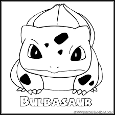 Small Picture Pokemon Bulbasaur coloring page Printables for Kids free word