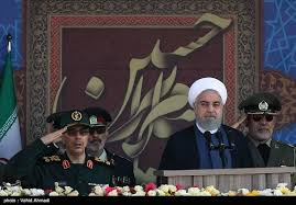 Image result for رژه یگانهای نمونه نیروهای مسلح جمهوری اسلامی ایران با حضور روحانی