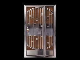 stainless steel security door 3d model
