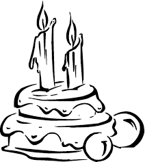 Birthday Candle Coloring Pages Cake Candles Free Printable