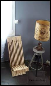 modern pallet furniture. Stacked Pallet Wood Modern Chair / Chaise Palabre En Palette Furniture A