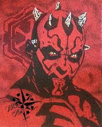 darth maul fan art sand painting
