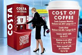 Costa Vending Machine Mesmerizing Coffee Giant Costa Slammed For Charging MORE Than £48 For A Drink