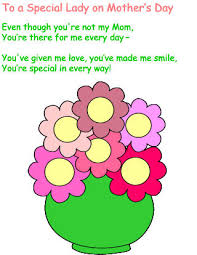 Small Picture Mothers Day poem for a special woman who is not your mother