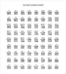 Sample Guitar Chord Chart 6 Documents In Pdf