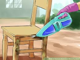 image titled remove mold from wood furniture step 3