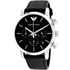 armani men s watches shop the best deals for 2017 armani men s ar1733 classic round black strap watch