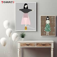 fashion trendy girls art prints canvas painting modern abstract watercolor wall art pictures girl room home on abstract watercolor wall art with fashion trendy girls art prints canvas painting modern abstract