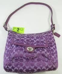 Gorgeous designer Coach Penelope Signature Sateen Convertible Soho, Hobo shoulder  bag. This purse features the signature jacquard sateen fabric in purple ...