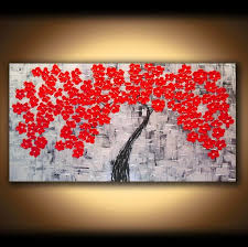 Image of: Large Canvas Wall Art Tree
