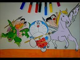 doraemon and friends coloring book learn to color for kids