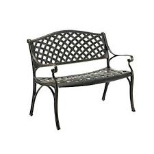 aluminum patio chairs. Walker Furniture Company Aluminum Patio Chairs Cast Wicker Style Bench In Antique Bronze Used