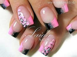 Love This Pink And Black Nail Design Nehty Unghie Sexy French