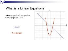 what is a linear equation a linear equation is an equation whose graph is a