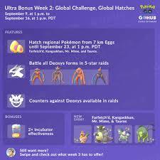 Ultra Bonus Event Guide Week 2 2019 Pokemon Go Hub