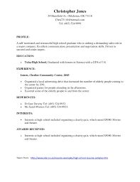 Achievement Examples For High School Resume