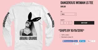 Arianas New Tour Merch Will Make You Feel Like A Dangerous