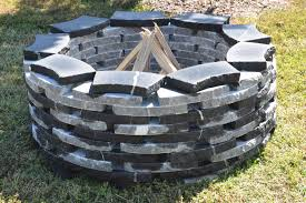 Stacked Stone Fire Pit natural stone fire pit installers richmond va 7593 by xevi.us