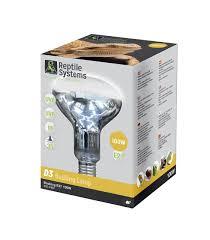 Uvb And Basking Light Reptile Systems D3 Uv Basking Lamp 100watt E27