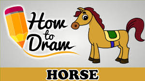 Small Picture How To Draw A Horse Easy Step By Step Cartoon Art Drawing Lesson