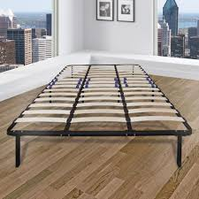 Rest Rite Rest Rite Queen-Size Bed Frame with Wood Slat Platform ...