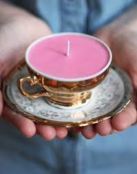 4 a teacup candle