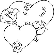 Small Picture Coloring Pages Of Hearts With Wings And Roses Coloring Coloring