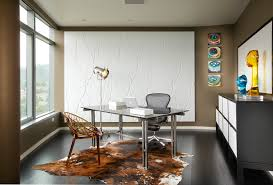Small Picture Office wall design ideas home office contemporary with tan walls