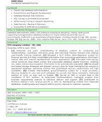 Db2 Dba Resume Example Good Resume Template