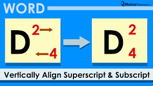 5 ways to vertically align superscript and subscript in the same column in word doent data recovery blog