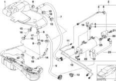 fuel vapor detection pump 16136756440 bosch bmw 16 13 6 756 model