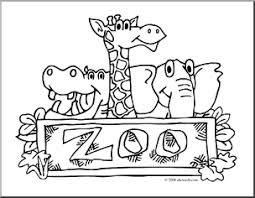 Small Picture Zoo clipart coloring Pencil and in color zoo clipart coloring