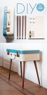 We've seen these terrific tables, made from vintage suitcases. Here's a  great