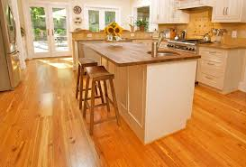 reclaimed wood flooring in the kitchen