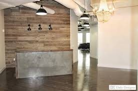 industrial modern office. modern office reception design daly designs jane project rustic industrial