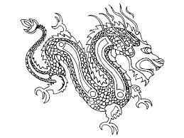 Small Picture Chinese Dragon Coloring Pages Corresponsablesco