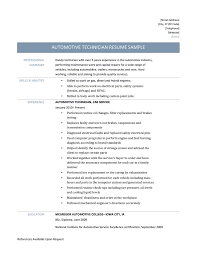 automotive technician resume samples and tips automative technician resume template