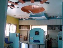 office pop. pop and wooden ceiling design for reception in office pop desing silling